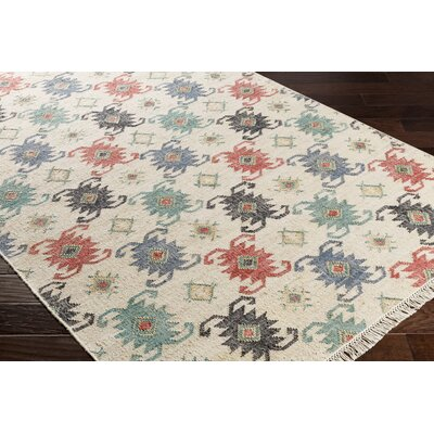 Essex Hand-Woven Blue/Red Area Rug Rug Size: Rectangle 8 x 10