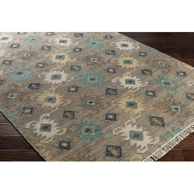 Essex Hand-Woven Blue/Black Area Rug Rug Size: Rectangle 2 x 3