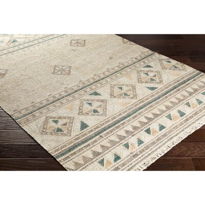 Essex Hand-Woven Brown/Green Area Rug Rug Size: Rectangle 2 x 3