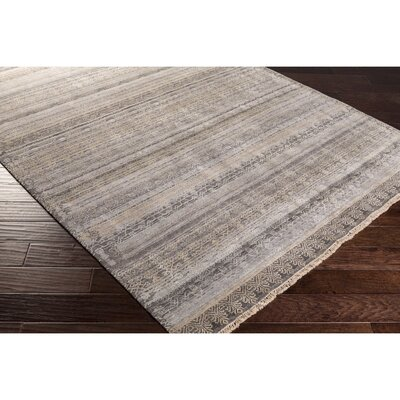 Banyon Hand-Knotted Neutral/Brown Area Rug Rug Size: Rectangle 2' x 3'