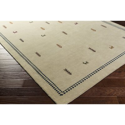 Taylor Cove Hand-Knotted Neutral/Black Area Rug Rug Size: Rectangle 5 x 76