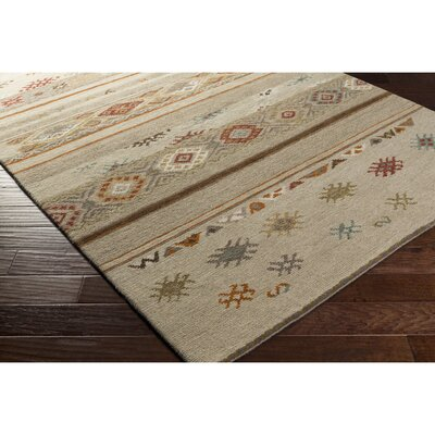 Shorney Hand-Knotted Neutral/Brown Area Rug Rug Size: 6 x 9