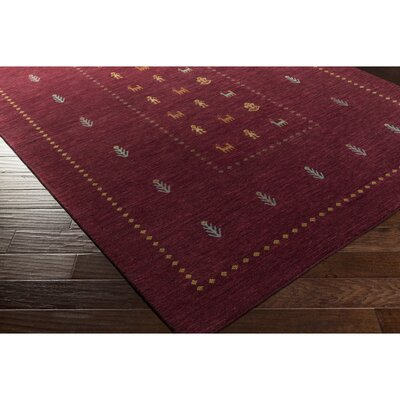 Taylor Cove Hand-Knotted Red/Blue Area Rug Rug Size: Rectangle 5 x 76