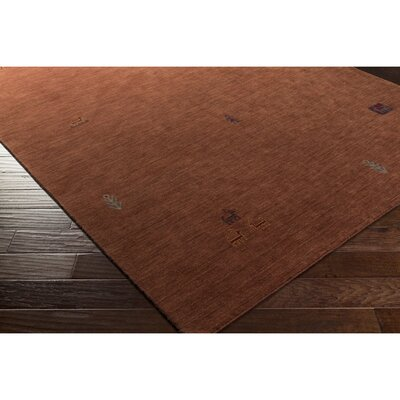 Taylor Cove Hand-Knotted Red Area Rug Rug Size: 5 x 76