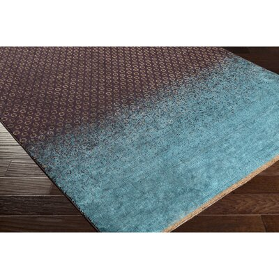 Darvone Brown/Blue Area Rug Rug Size: 2 x 3
