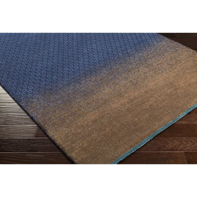 Darvone Brown/Blue Area Rug Rug Size: Rectangle 56 x 79