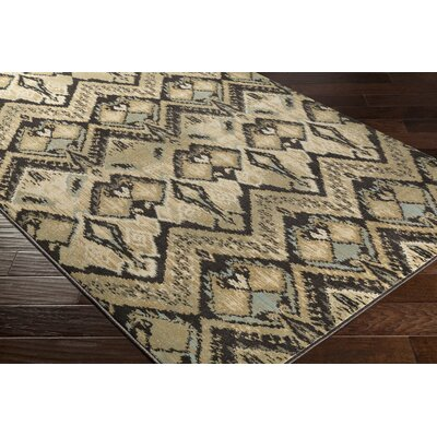 Berkeley Beige/Brown Area Rug Rug Size: 53 x 76