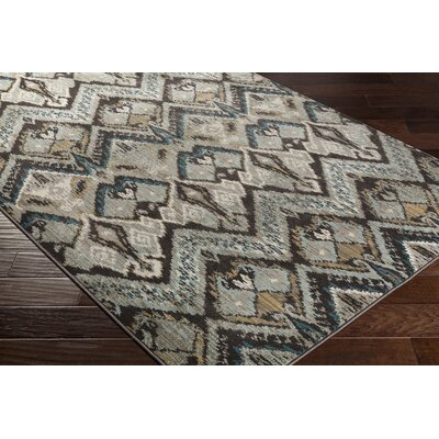 Berkeley Beige/Brown Area Rug Rug Size: Rectangle 710 x 1010