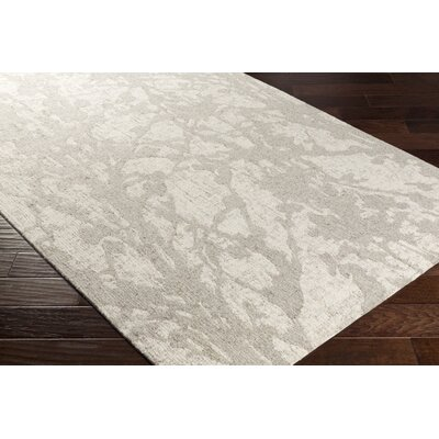 Hani Hand-Tufted Beige/Gray Area Rug Rug Size: Rectangle 5 x 76