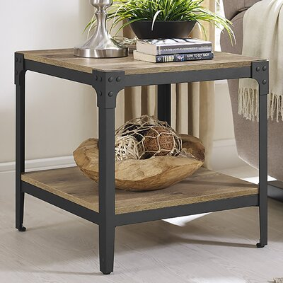 Arboleda Rustic Wood End Table Finish: Barnwood