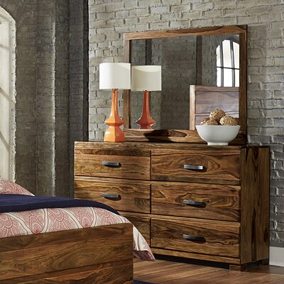Baltusrol 6 Drawer Double Dresser with Mirror