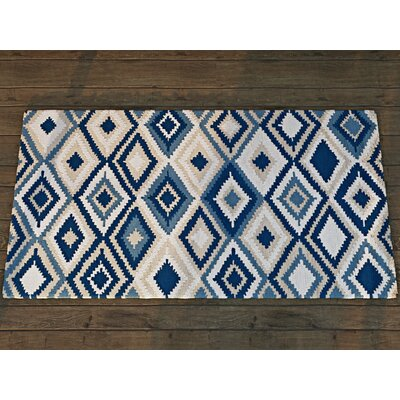 Cassava Beige/Navy Indoor/Outdoor Area Rug Rug Size: 9 x 12