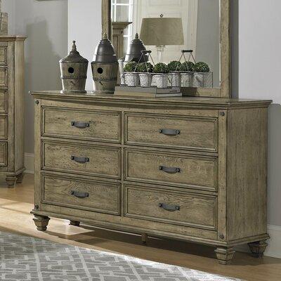 Attleboro 6 Drawer Dresser