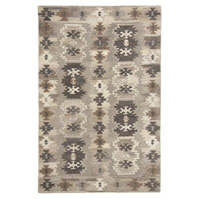 Lassen Hand-Woven Gray/Beige Area Rug Rug Size: 5 x 8