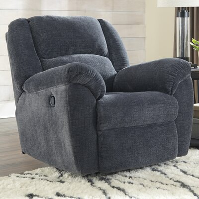 Bosswood Manual Rocker Recliner Upholstery: Indigo