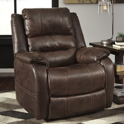 Arvin Adjustable Headrest Power Recliner Upholstery: Walnut
