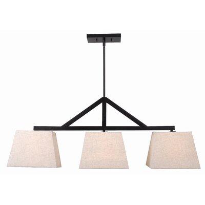 Furniture-Loon Peak Cassye 3 Light Kitchen Island Pendant