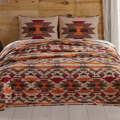 Cedrick Quilt Size: King, Color: Sienna