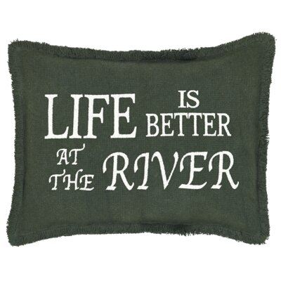 Cedargrove Life is Better at the Lake 100% Cotton Lumbar Pillow