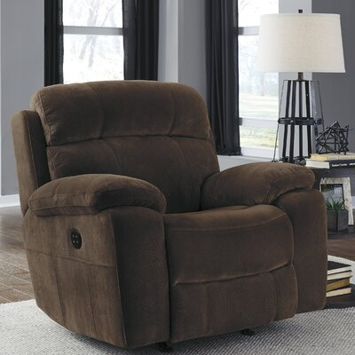 Bayat Adjustable Headrest Manual Recliner Upholstery: Chocolate