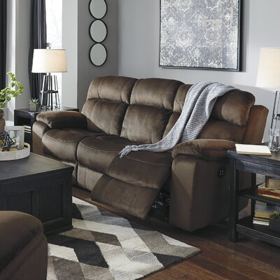 Bayat Power Adjustable Headrest Reclining Sofa Upholstery: Chocolate