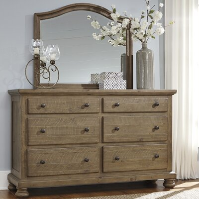 Battalgazi 6 Drawer Double Dresser with Mirror