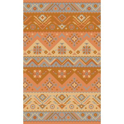 Double Mountain Hand Woven Wool Orange Area Rug Rug Size: Rectangle 36 x 56