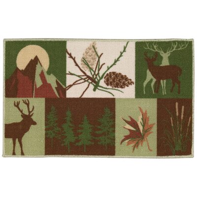 Asmara Burgundy/Green Area Rug