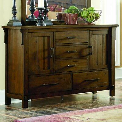 Loon Peak Baird 5 Drawer Combo Dresser