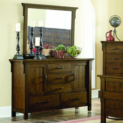 Baird 5 Drawer Combo Dresser with Mirror
