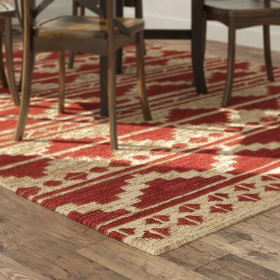 Columbia Hand-Woven Red Area Rug Rug Size: Rectangle 5 x 8