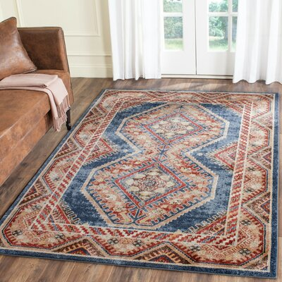 Isanotski Red/Blue Area Rug Rug Size: 3 x 5