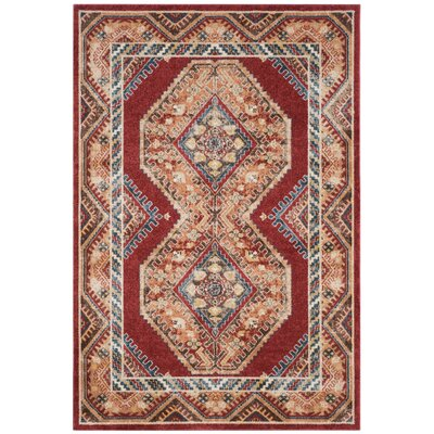 Isanotski Red/Rust Area Rug Rug Size: 4 x 6