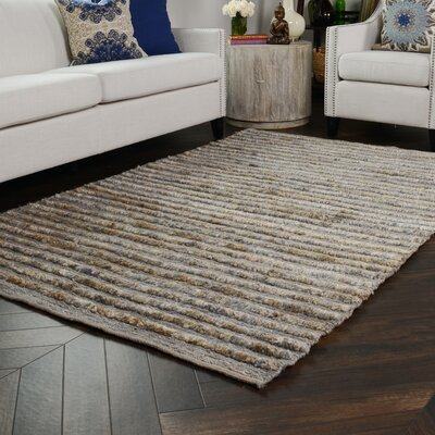 Marion Hand-Woven Pearl Blue Area Rug Rug Size: 5 x 8