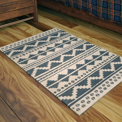 Columbia Hand-Woven Navy Area Rug Rug Size: Rectangle 2 x 3