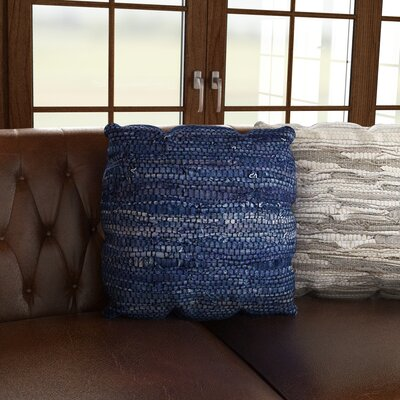Walters Woven Throw Pillow Color: Blue