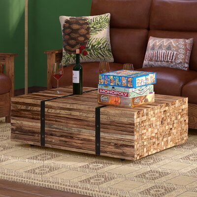 Superior Teak Strapped Coffee Table