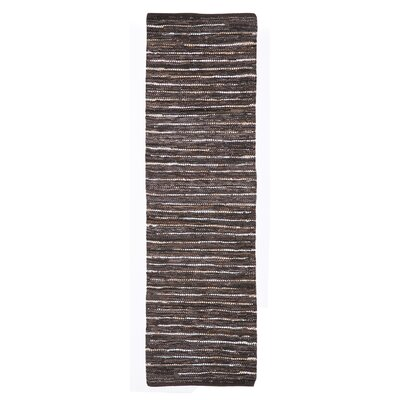 Billancourt Hand-Woven Brown Area Rug Rug Size: 5 x 8
