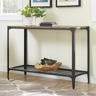 Arboleda Rustic Wood Console Table Finish: Barnwood
