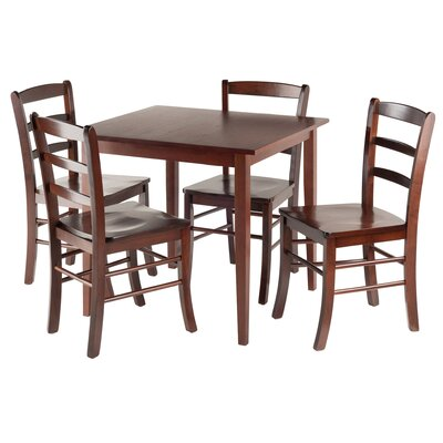 Avawatz 5 Piece Dining Set Finish: Antique Walnut
