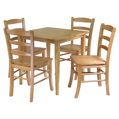 Avawatz 5 Piece Dining Set Finish: Light Oak