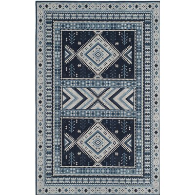 Antelope Blue Area Rug Rug Size: Rectangle 4 x 6