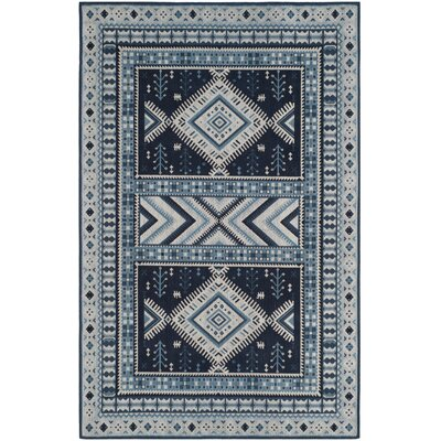 Antelope Blue Area Rug Rug Size: Rectangle 5 x 8