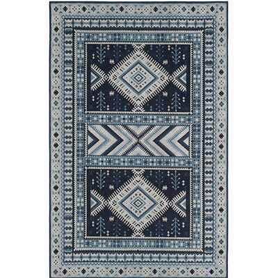 Blue Area Rug Rug Size: Square 6