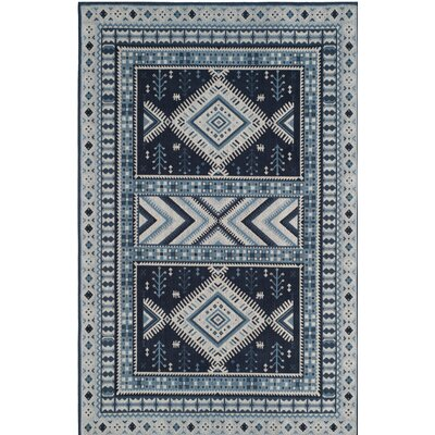 Antelope Blue Area Rug Rug Size: Rectangle 8 x 10