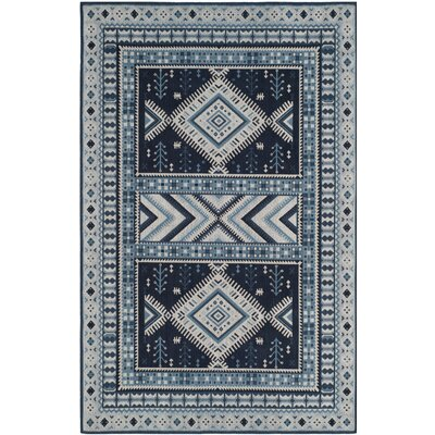 Antelope Blue Area Rug Rug Size: Rectangle 67 x 92