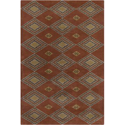 Chatou Hand Tufted Wool Rust/Brown Area Rug