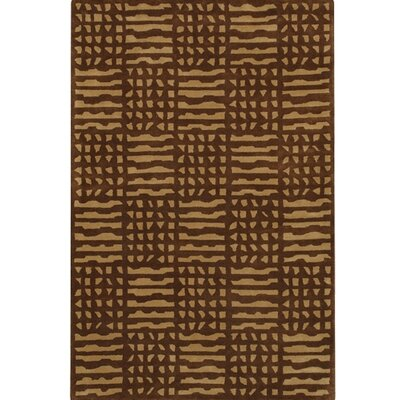 Chien Brown / Tan Area Rug Rug Size: 79 x 106
