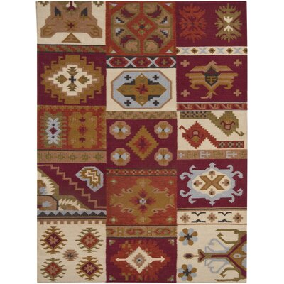 Dupoint Flat Woven Red/Brown Area Rug Rug Size: 7 x 10