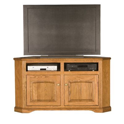 Glastonbury 57 TV Stand Door Type: Plain Glass, Color: Chocolate Mousse